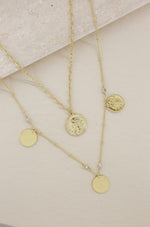 Elite Coin and Crystal Layered Necklace Set