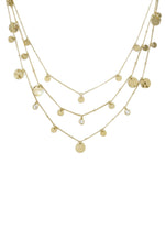 All in Layered Crystal & 18kt Gold Plated Necklace Set