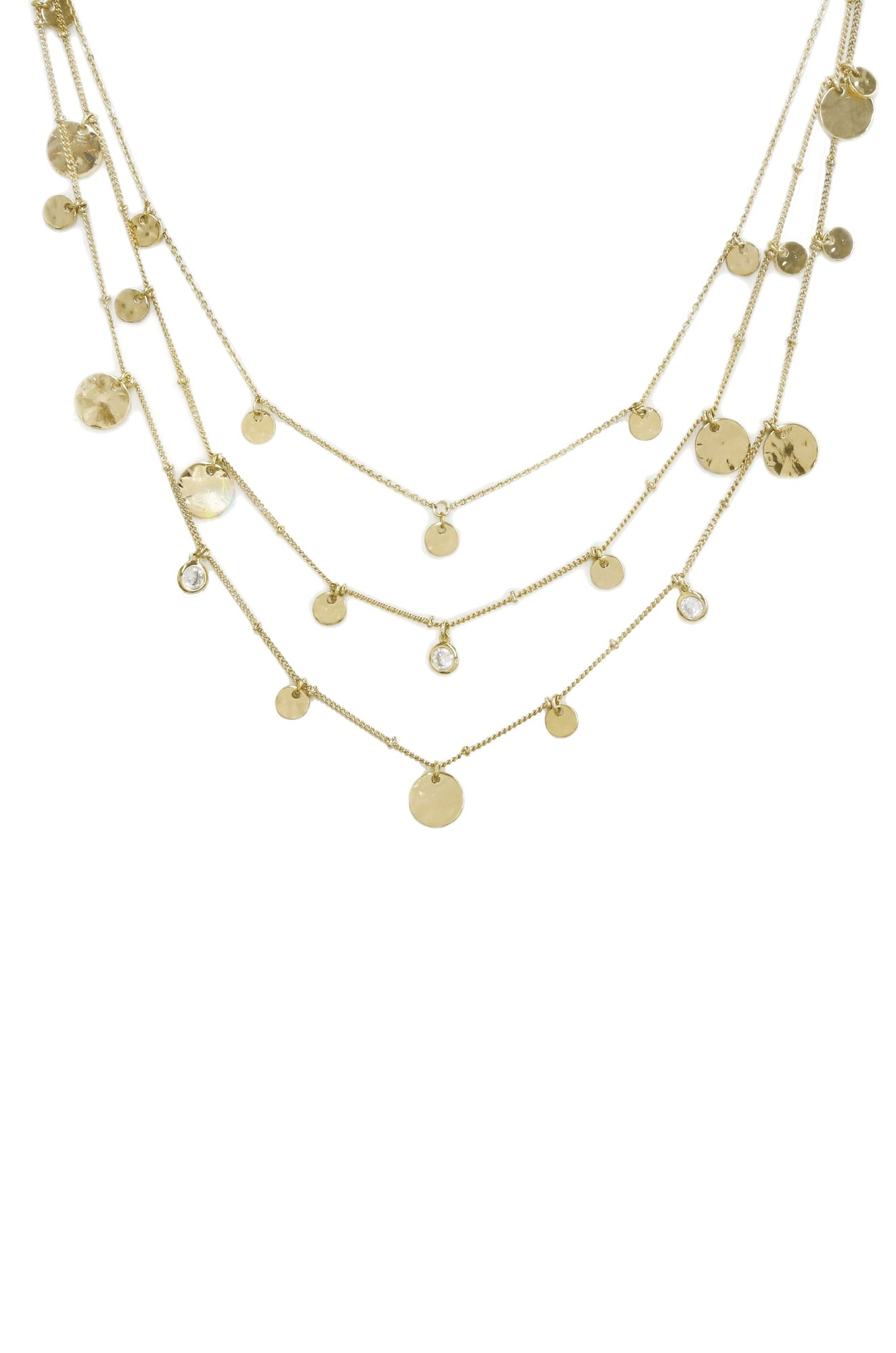 32c8335b5 All in Layered Crystal & 18kt Gold Plated Necklace Set. All in Layered  Crystal & 18kt Gold Plated Necklace Set