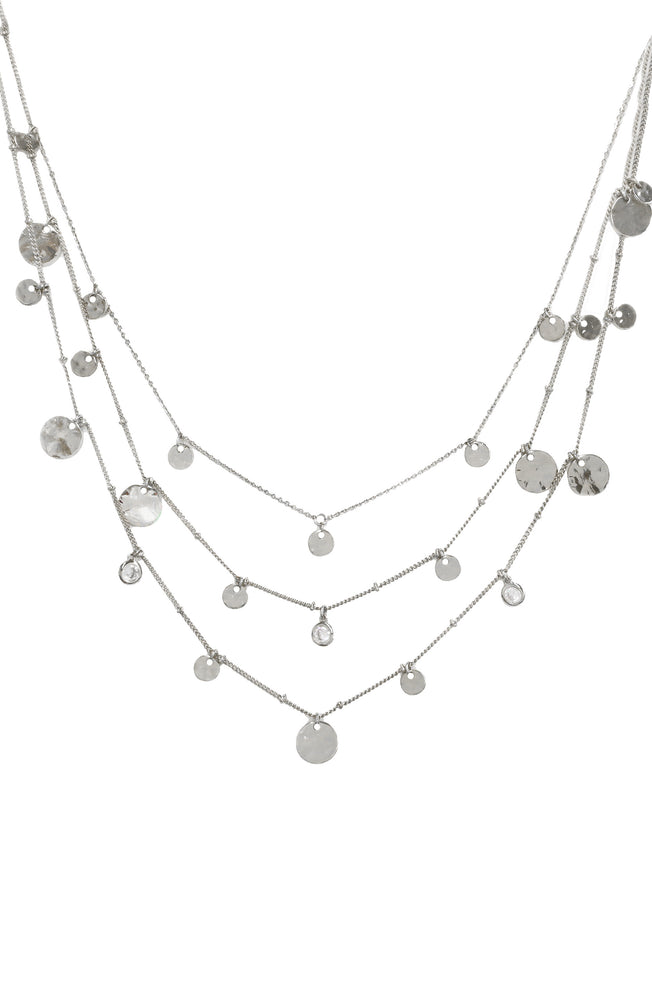 All in Layered Crystal Necklace Set