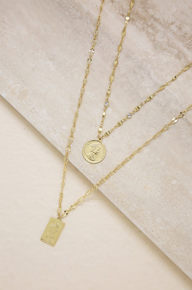 Medallions of Mine Layered Coin Necklace Set