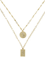 Medallions of Mine Layered 18kt Gold Plated Coin Necklace Set
