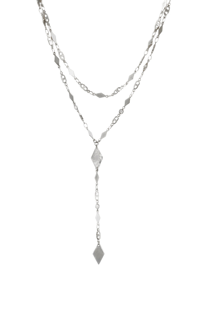 Augustine Layered Lariat Necklace