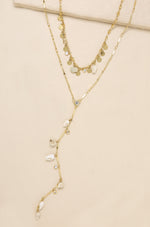 The Deep End Shell Layered Necklace Set