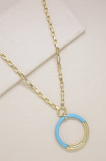 Turquoise Cove 18k Gold Plated Pendant Necklace