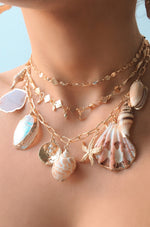 Private Island 18k Gold Plated Assorted Shell Necklace