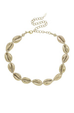 Cowrie Shell 18k Gold Plated Necklace