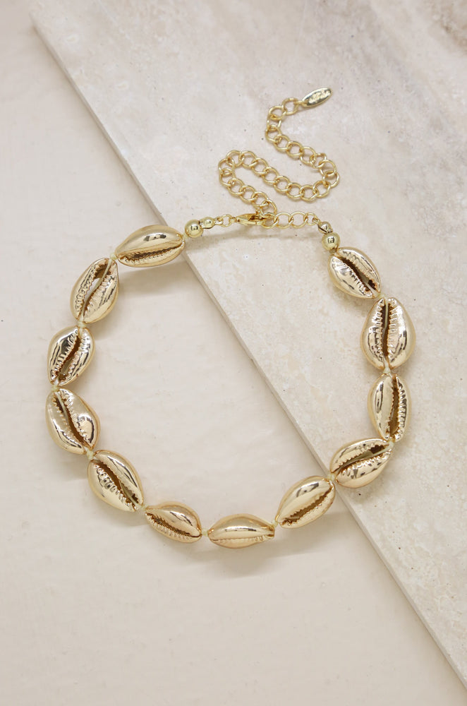 18kt Gold Plated Cowrie Shell Necklace