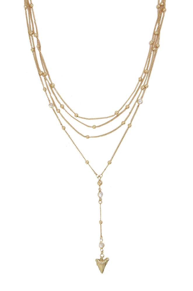 In the Deep Layered Shark's Tooth Lariat