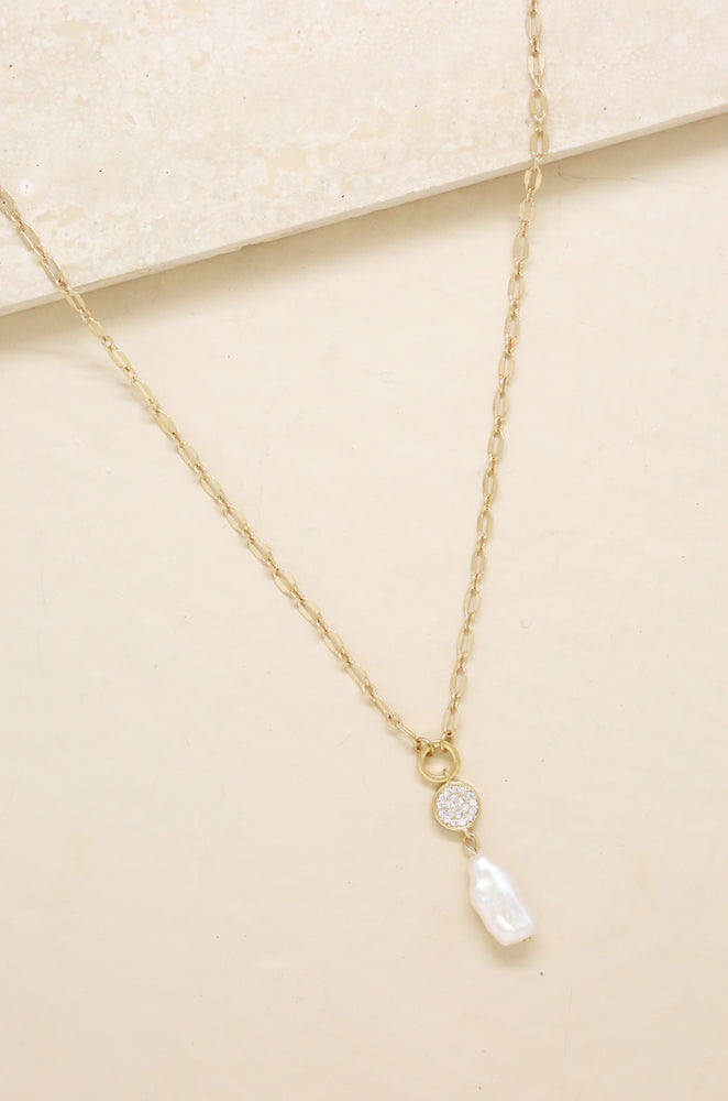 Dainty Vibes Freshwater Pearl 18k Gold Plated Necklace