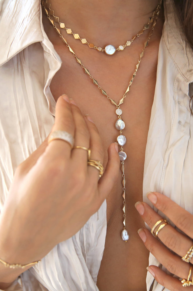 Summer Dreamin' Freshwater Pearl & Gold Necklace Set