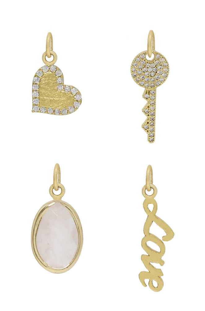 Love to Love 18k Gold Plated Interchangeable Charm Necklace