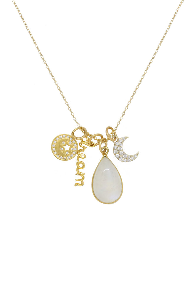 Dream Baby Dream 18k Gold Plated Interchangeable Charm Necklace on white background