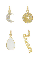 Dream Baby Dream 18k Gold Plated Interchangeable Charm Necklace on white background  2