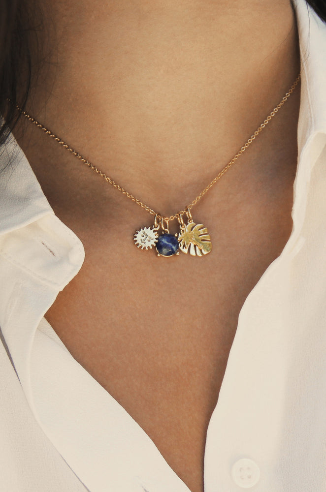 Tropical Getaway 18k Gold Plated Interchangeable Charm Necklace