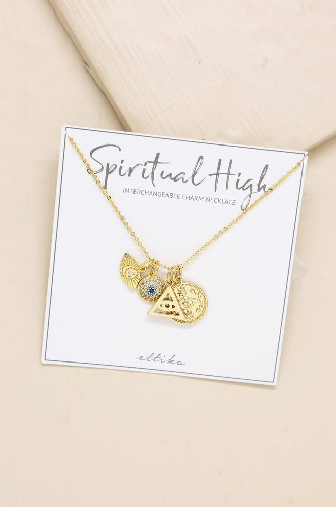 Spiritual High Interchangeable Charm Necklace