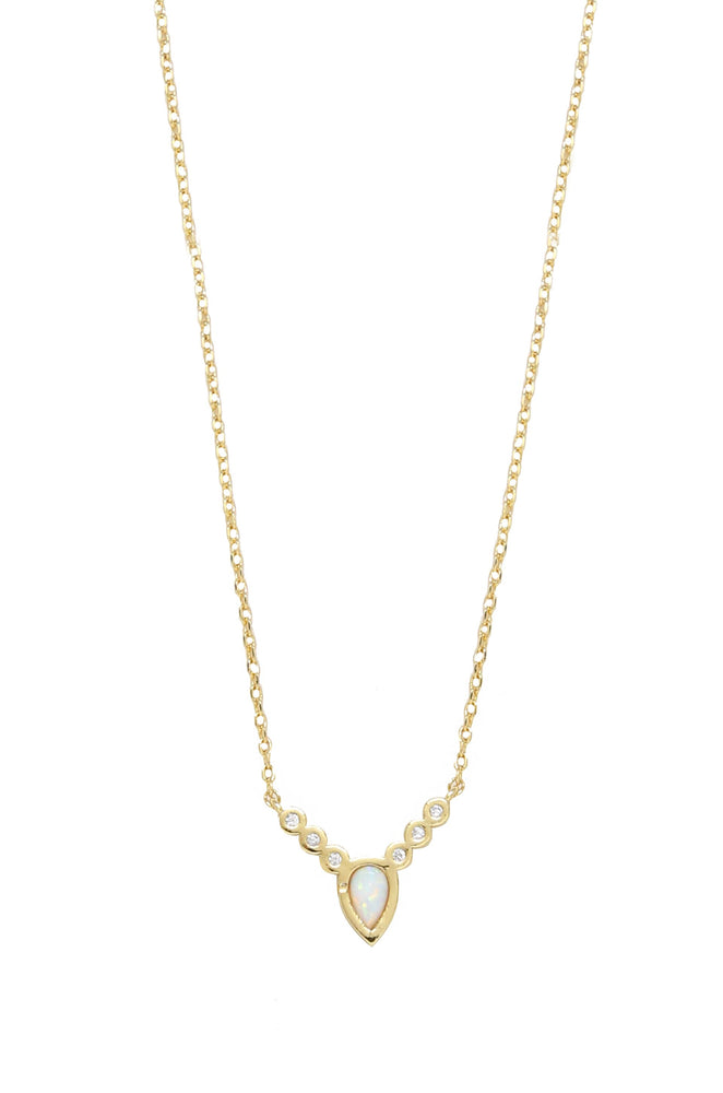 Kyocera Opal & 18kt Gold Plated Small Statements Necklace