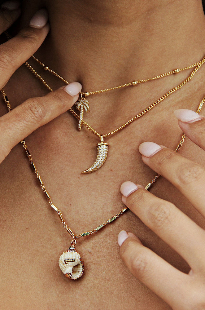 In the Tropics Necklace Set in Gold