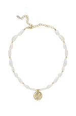 Paloma Pearl Coin Necklace