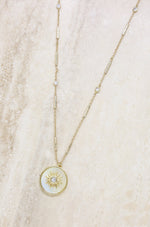 Apollo Mother of Pearl 18k Gold Plated Pendant Necklace