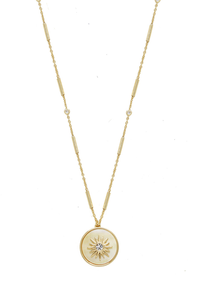 Apollo Mother of Pearl Pendant Necklace