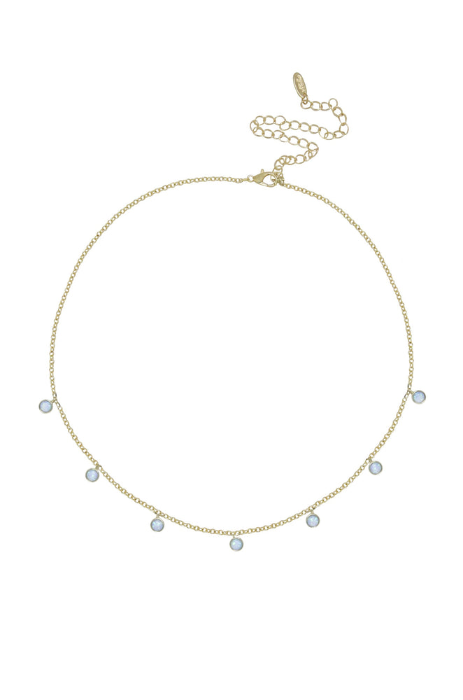 Fine Tune Blue Opal Necklace