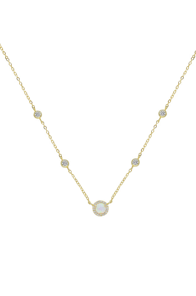Olivia Opal and Crystal Necklace