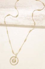 Nova Crystal 18k Gold Plated Pendant Necklace