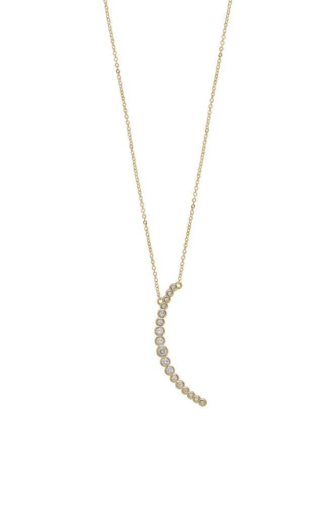 Waning Crystal Crescent Moon Necklace