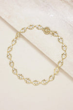Crystal & Gold Bamboo Eyelet Collar Necklace