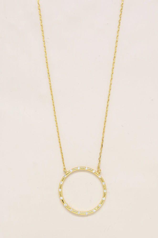 Circle of Love Crystal Pendant Necklace