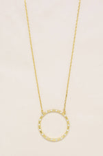 Circle of Love 18k Gold Plated Crystal Pendant Necklace