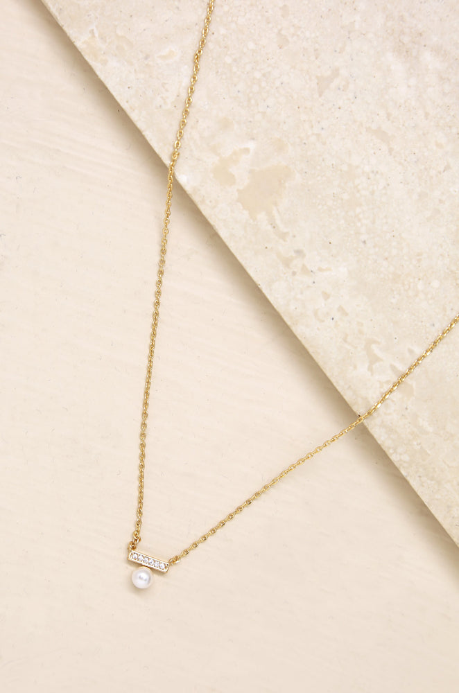 Classic Pearl & Crystal Pendant Necklace