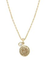 Coin Keepsake 18k Gold Plated Necklace on white background
