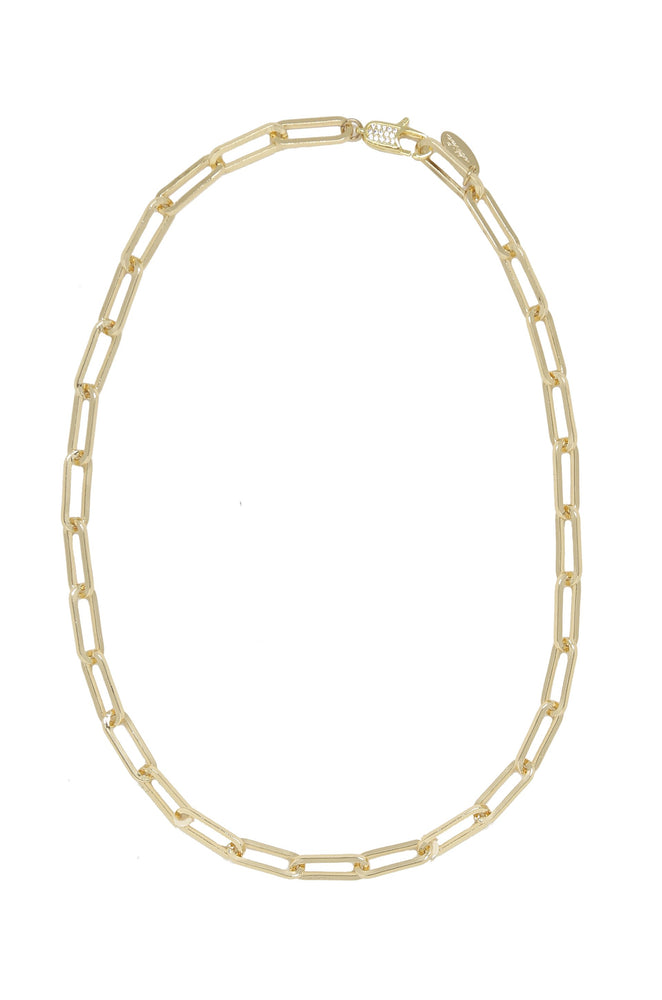 Interlinked 18kt Gold Plated Chain Necklace