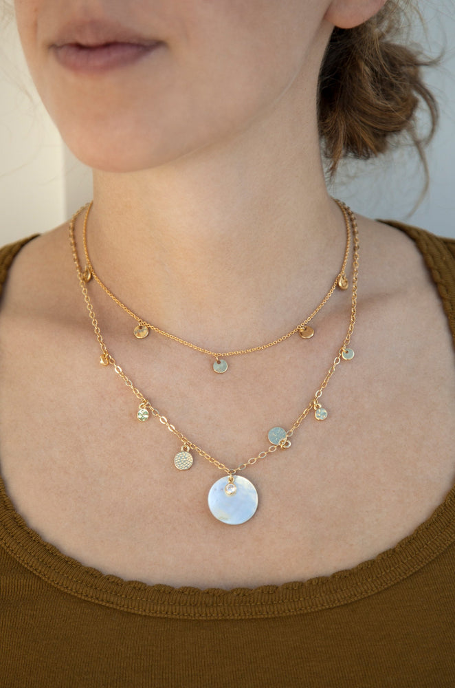 Atlantis Shell 18k Gold Plated Necklace Set
