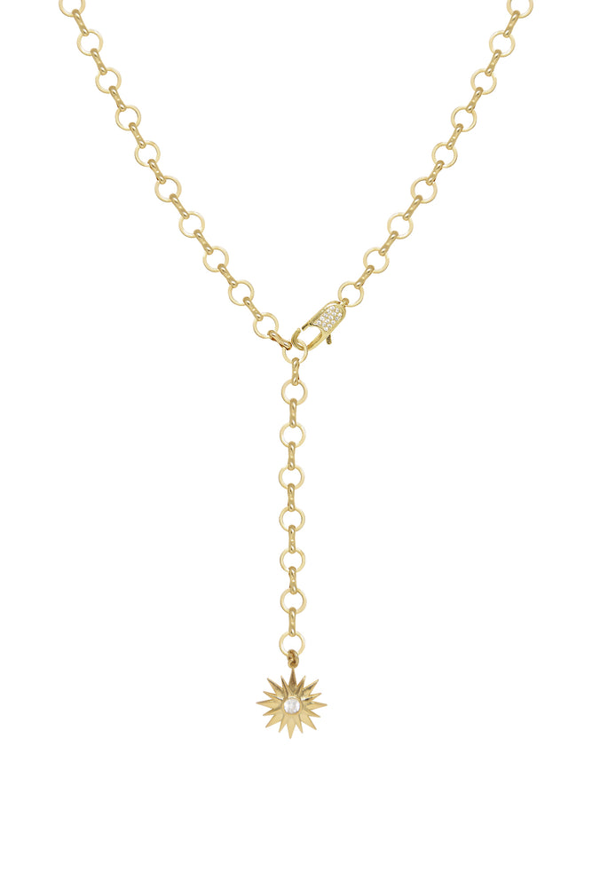 Total Eclipse 18k Gold Plated Lariat Necklace