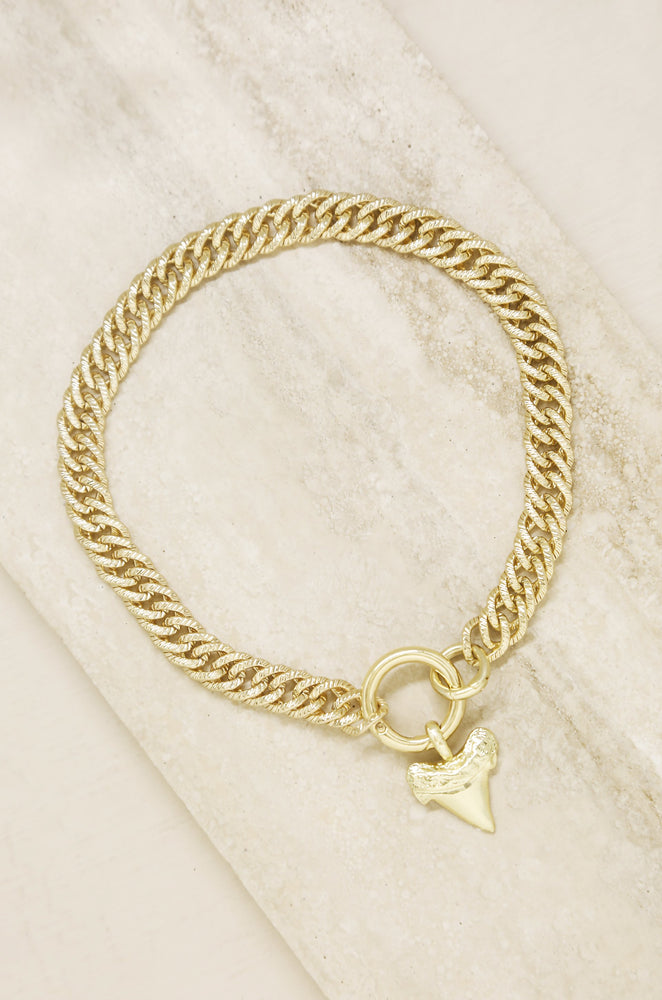 Into the Deep 18k Gold Plated Sharktooth Necklace