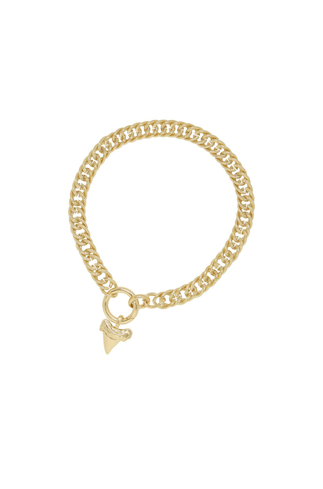 Into the Deep 18k Gold Plated Sharktooth Choker Necklace