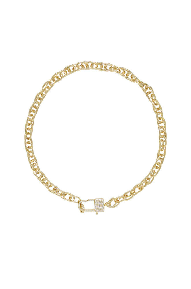 Throw Away the Key 18k Gold Plated Chain Necklace