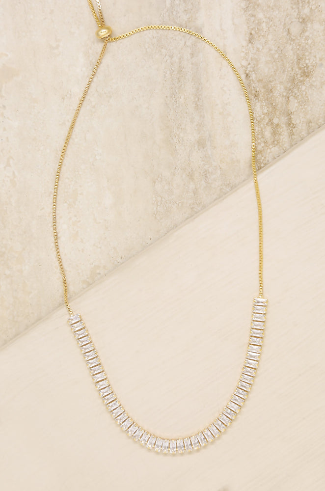 Delicate Crystal Statements 18k Gold Plated Adjustable Necklace