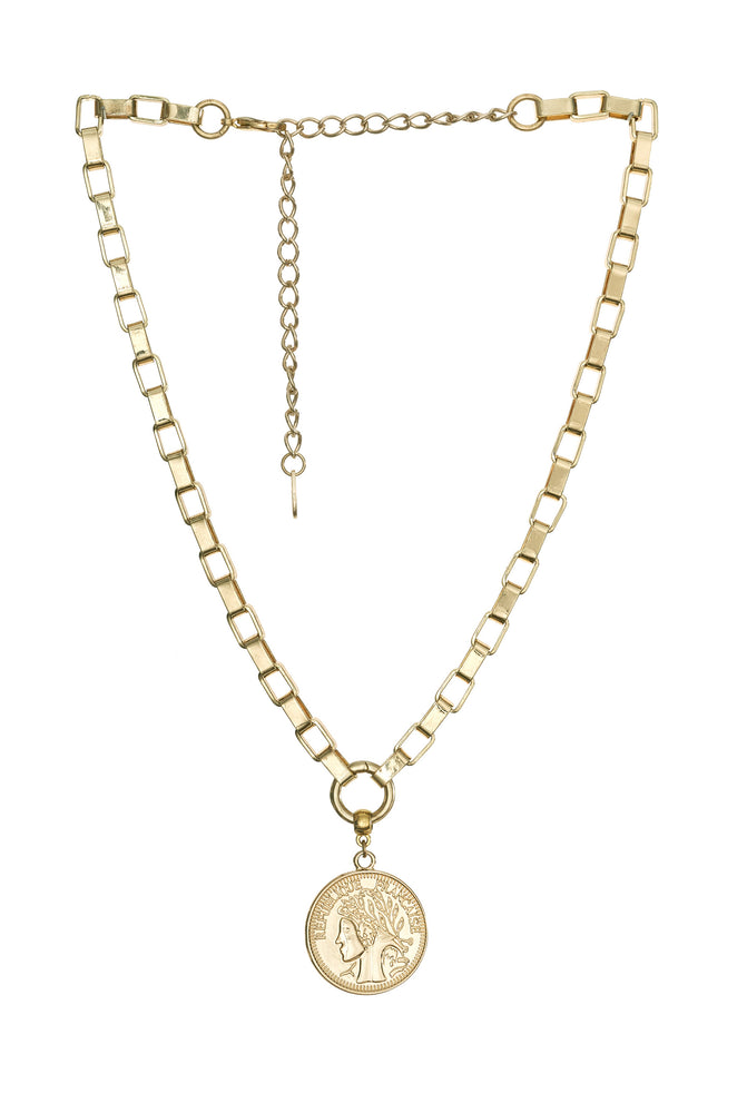 The Traveler's Coin 18k Gold Plated Chain Necklace