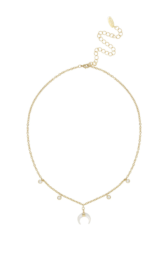 Make Waves Layered 18k Gold Plated Crystal Necklace Set