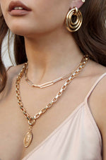 Sparkle in Links 18k Gold Plated Chain Link Necklace