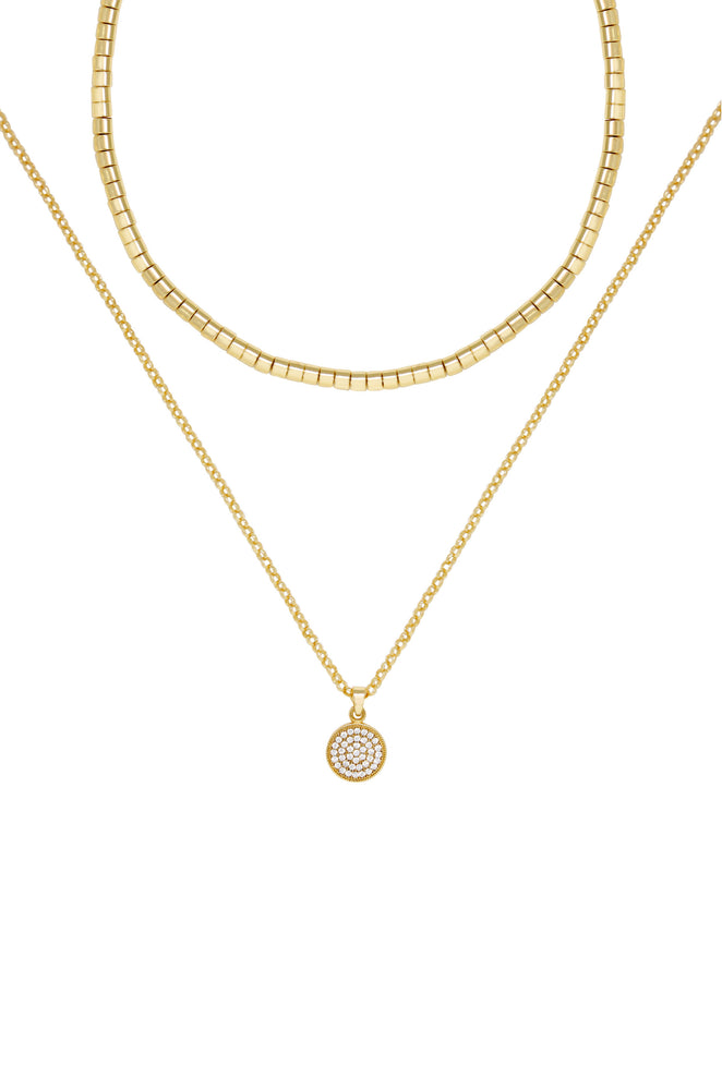 Mix It Up Layers 18k Gold Plated Necklace Set