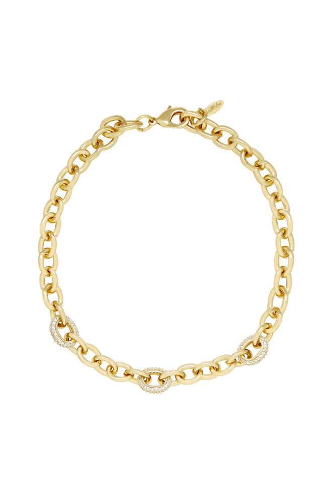 Sparkle and Show Off 18k Gold Plated Chain Link Necklace