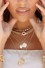 All About That Chain Crystal and 18k Gold Plated Necklace