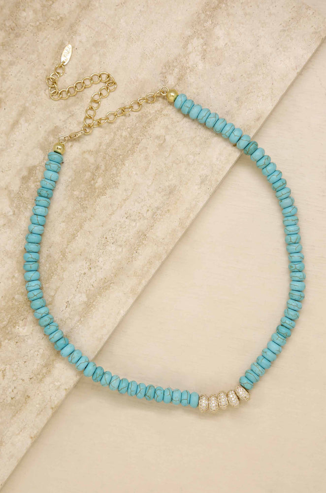 Tulum Turquoise Beaded 18k Gold Plated Necklace