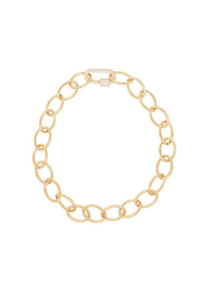 The Future in Links 18k Gold Plated Necklace