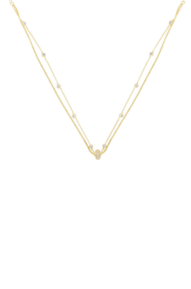 Dainty Chains 18k Gold Plated Necklace